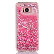 Skrzynka dla samsung galaxy s8 s8 plus okładka mały wzór miłości tpu materiał pełny miękki miłość błyskawica proszek quicksand telefon