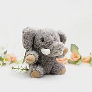 Worek / telefon / keychain wesoły słoń zabawka kreskówkowy faux futro