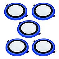 Paneellampen Natuurlijk wit Blauw LED 5 stuks
