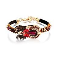 Γυναικεία Δερμάτινα βραχιόλια Κοσμήματα Βασικό Βοημία Style Πανκ Στυλ Προσαρμόσιμη Χιπ-Χοπ Γκόθικ κοσμήματα πολυτελείας Δερμάτινο Κράμα
