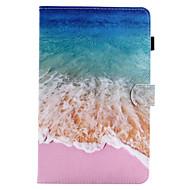 voor case cover kaarthouder portemonnee met standaard flip magnetisch patroon full body case landschap hard pu leer voor Samsung Galaxy