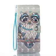 til case cover kortholder lommebok med stativ flip magnetisk mønster fuld kropsui ugle hard pu læder til Samsung Galaxy Note 8
