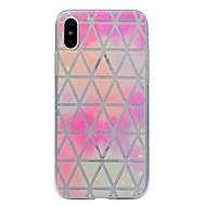 Til iPhone X iPhone 8 iPhone 8 Plus Etuier Transparent Mønster Bagcover Etui Geometrisk mønster Blødt TPU for Apple iPhone X iPhone 8