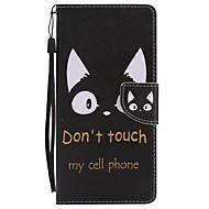til case cover kortholder lommebok med stativ flip magnetisk mønster fuld krop kaskat hår hard pu læder til Samsung Galaxy Note 8