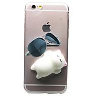 Na iPhone 7 iPhone 7 Plus Etui Pokrowce Przezroczyste Wzór DIY Miękki Etui na tył Kılıf Kot Kreskówka 3D Miękkie Poliuretan