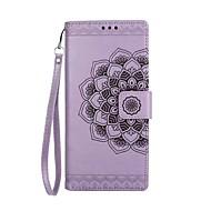 για κάλυψη περίπτωση κατόχου καρτών πορτοφόλι flip ανάγλυφο σχέδιο πλήρες σώμα μανταλάκι λουλούδι σκληρό pu δέρμα για samsung σημείωση 8