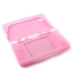 silikon skyddande hud / fall för Nintendo DSi LL / XL (rosa)