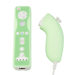 Protective Silicone Case/Skin for Nintendo Wii/Wii U Remote and Nunchuk/Green (BCM033)