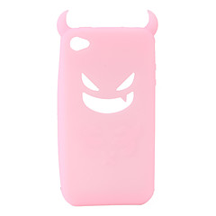 Devil Protective Silica Gel Case for iPhone4 - Pink