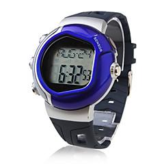Kalorienzähler Puls Herzfrequenz-Monitor Automatik-Uhr mit Alarm - blau