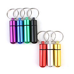 Travel Travel Pill Box/Case Waterproof / Portable Travel Accessories for Emergency / Travel Storage Aluminum