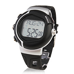 Unisex Sport Style Rubber Digital Automatic Wrist Watch (Black)