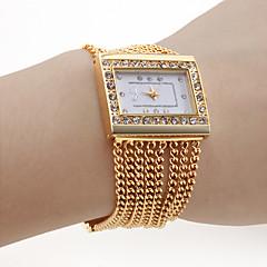 Damen Modeuhr Quartz Legierung Band Glanz Gold Marke-