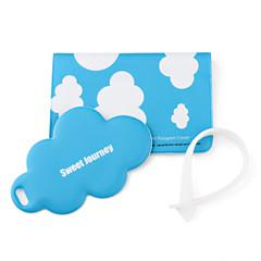 caso de passaporte e tag de viagem (nuvem branca)