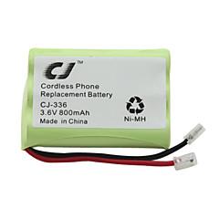 3.6v 800mAh cordless telefono sostitutivo batteria Ni-MH cj-336