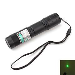juomakelpoista vihreä laserosoitin akku (5mw, 532nm, musta)