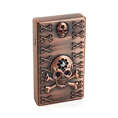 Skull Pattern Gas Lighter (Bronze)