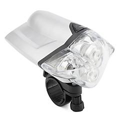 4-LED de vélo projecteur avec mount (argenté)