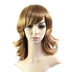 Capless middellange 100% warmte-vriendelijke vezels natuurlijke uitstraling haar pruik