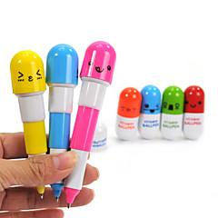 uvlačenje lijep vitamina pilule stilu Plava tinta kemijska olovka (slučajan odabir boje)