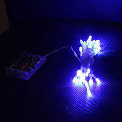 3M Blå 30 Led Streng Lys 2 Gnister Tilstande (Blinker, Lyser Konstant)