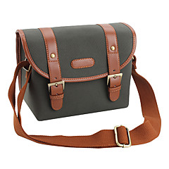 Canvas Camera Camcorder Bag with PU Leather for Miniature SLR
