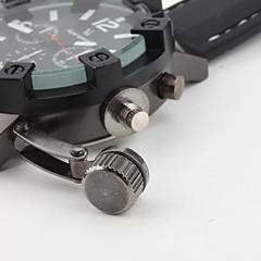 メンズミリタリースタイルブラックケースシリコンバンドクォーツ腕時計