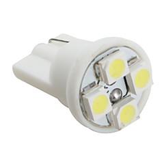 T10 3528 smd 4-LED vitt ljus glödlampa för bil (DC 12V, set om 4 st)