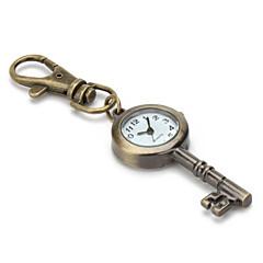 unisexe en alliage à quartz analogique trousseau montre avec la clé rétro (bronze)