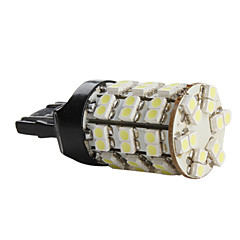 T20 3528 SMD 60-LED 2.52W 720LM White Light Bulb for Car (DC 12V)