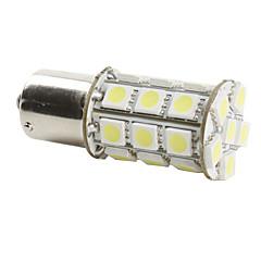 1156 6w 27x5050 SMD vit glödlampa för bil bromsljus (DC 12V)