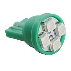 t10 3528 SMD 4-Ampoule LED feu vert pour la voiture (12V DC, jeu de 4 pièces)