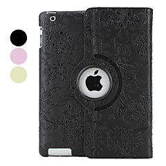 Flower Style Pattern PU Leather Case with Stand for iPad 2/3/4 (Assorted Colors)