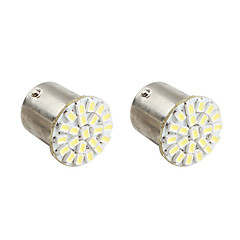 1156 22 * 1206 SMD valkoinen LED auton merkkivalot (2-pack, DC 12V)