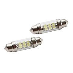 37mm 9 * 1206 smd białe światła LED Signal samochodowe (2-Pack, 12V DC)