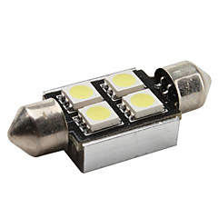 Feston Automatique Blanc 1W SMD 5050 6000 Lampe de lecture Eclairage plaque d'immatriculation CAN-BUS