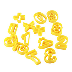 Math Pattern Cake and Cookie Cutter Mold (14 Piece)