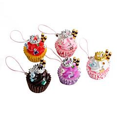 bonito gelo coroa chaveiro em forma de bolo de creme (cores aleatórias)