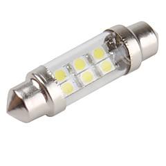 36mm 6 x 1210 SMD White LED Car Festoon Light