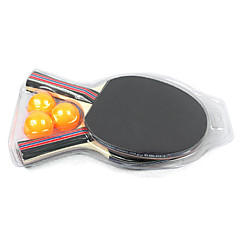 CONGA Double Side Penhold Table Tennis Racket, Ping Pong Paddle (2-Pack, 3 Balls Included)