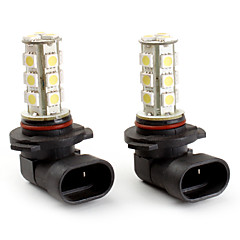 9005 18*5050 SMD White LED Car Signal Lights (2-Pack, DC 12V)