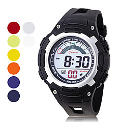 Men's Chronograph And Water Resistant PU Digital Automatic Casual Watches (Assorted Color)