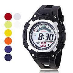 miesten chronograph ja vedenpitävä PU digitaaliset automaattiset rento kellot (valikoituja väriä)