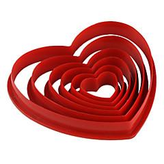 kremówki ciasto DIY dekorowanie czerwony w kształcie serca cookie cutter herbatniki formy (sztuk 6) jg0053