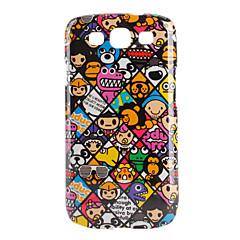 삼성 Galaxy S3 i9300을위한 다채로운 만화 동물 패턴 하드 케이스 (멀티 컬러)