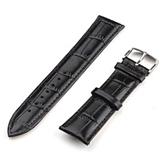 Unisex Genuine Leather Watch Strap 20MM (Black) Cool Watch Unique Watch Fashion Watch