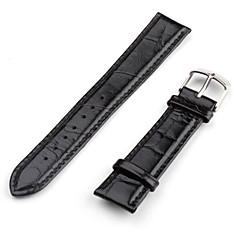 unisexe bracelet de montre en cuir véritable 22mm (noir)