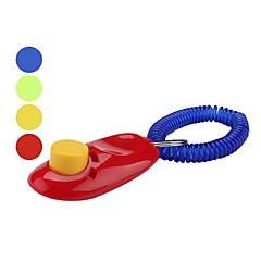 clicker botón grande con la pulsera para el entrenamiento del perro