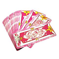 Meer Accessoires geinspireerd door Cardcaptor Sakura Sakura Kinomoto Anime Cosplay Accessoires Kaart Zwart Papier Vrouwelijk