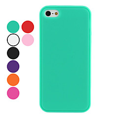 Carcasa Suave de un solo Color para iPhone 5 (Colores Surtidos)